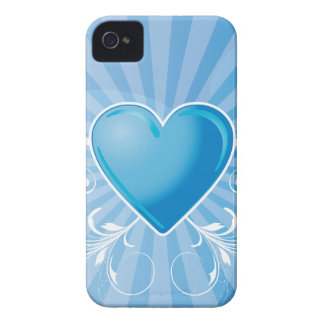 Blue Heart and Wings iPhone 4 Covers