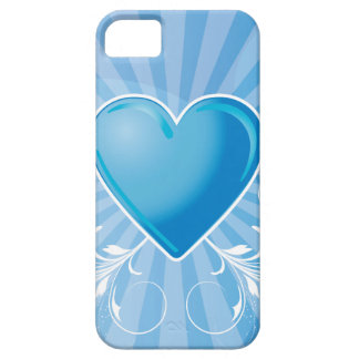 Blue Heart and Wings iPhone 5 Case