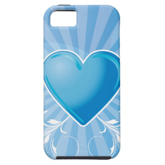 Blue Heart and Wings iPhone 5 Cover
