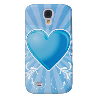 Blue Heart and Wings Samsung Galaxy S4 Cover