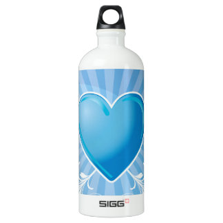 Blue Heart and Wings SIGG Traveler 1.0L Water Bottle