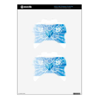 Blue Heart and Wings Xbox 360 Controller Skin