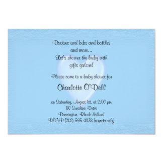 blue heart; baby shower card