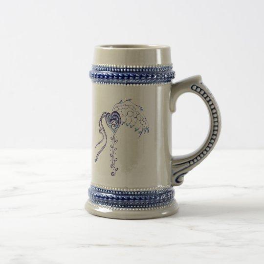 Blue Heart Beer Stein