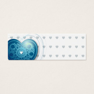 Blue heart, bookmark or card