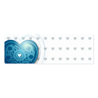 Blue heart, bookmark or card business card templates