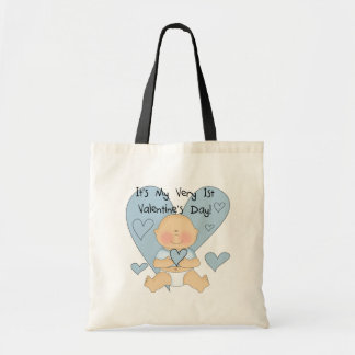 Blue Heart Boy 1st Valentine Tshirts and Gifts Canvas Bags