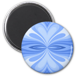 Blue Heart Butterfly Abstract Magnet