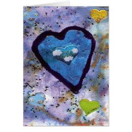 blue heart card