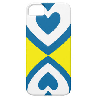 Blue heart iPhone 5 covers