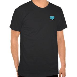 Blue heart customized best man's t-shirt