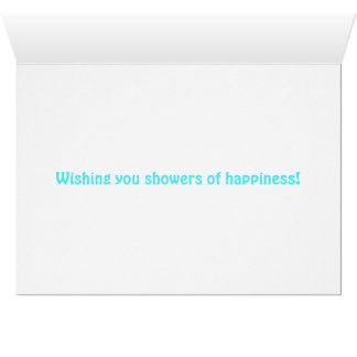 Blue heart customized bridal shower card
