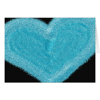 Blue heart customized engagement card