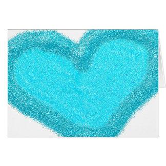 Blue heart customized wedding card