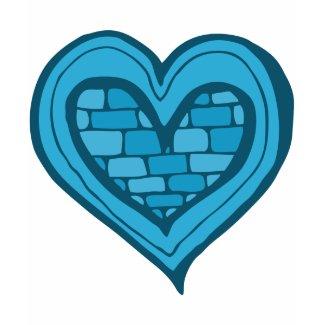 Blue Heart Doodle shirt