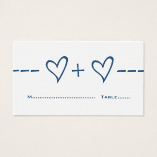 Blue Heart Equation Place Card