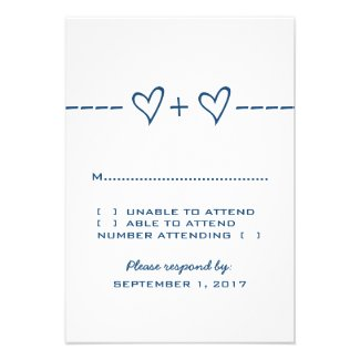 Blue Heart Equation Response Card