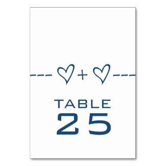 Blue Heart Equation Table Card
