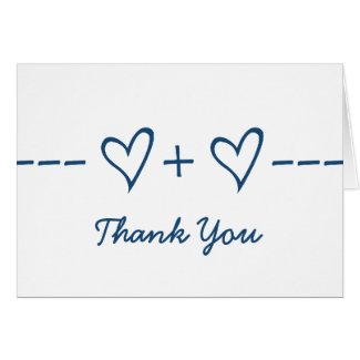 Blue Heart Equation Thank You Card