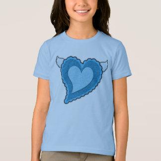 Blue Heart Girls' Bella Ringer T-Shirt