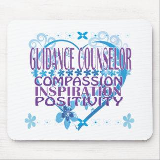 Blue Heart Guidance Counselor Mousepad