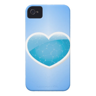 Blue Heart - Happy Birthday Sister iPhone 4 Cover