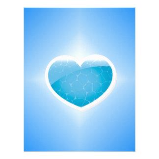 Blue Heart - Happy Birthday Sister Letterhead