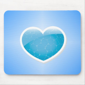 Blue Heart - Happy Birthday Sister Mousepads