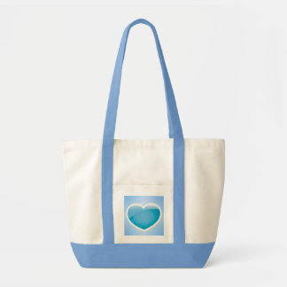 Blue Heart - Happy Birthday Sister Tote Bag