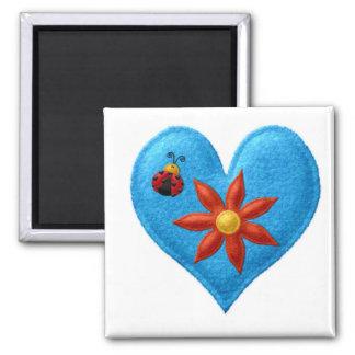 BLUE HEART Locker Magnets, Refrigerator Magnet