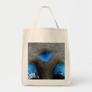 Blue Heart Love Canvas Bags