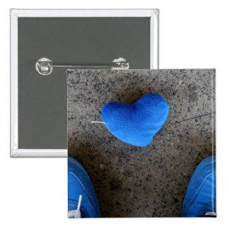 Blue Heart Love Pins