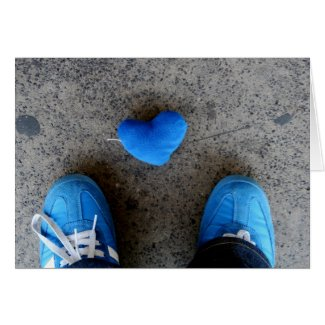 Blue Heart Love card