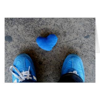 Blue Heart Love Cards