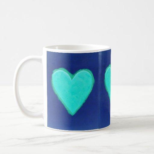 Blue Heart Love Coffee Mug