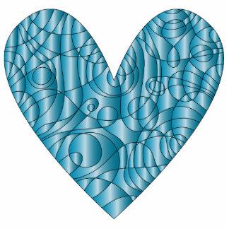Blue Heart - Love Design Standing Photo Sculpture