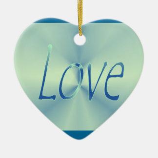 Blue Heart Love King's Christmas Ornament