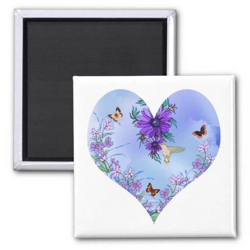 Blue heart magnets