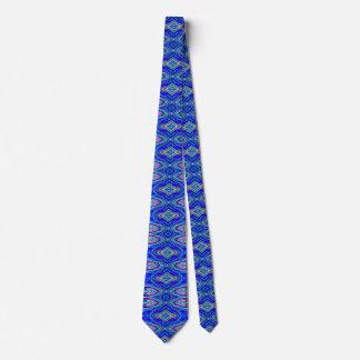 Blue heart neck tie