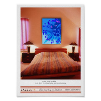 Blue heart of an hibiscus presentation posters