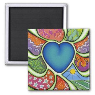 Blue heart of love magnet