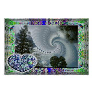 Blue Heart on a Cloudy Day poster