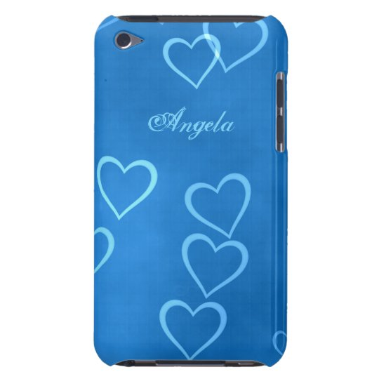 Blue heart outlines barely there iPod cover
