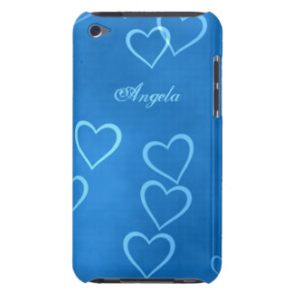 Blue heart outlines iPod touch cover