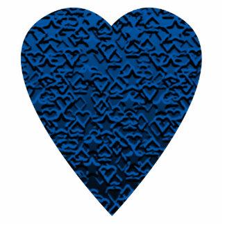 Blue Heart. Patterned Heart Design. Statuette