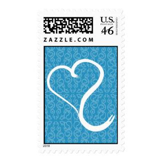 Blue Heart Postage Stamp