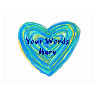 Blue Heart Postcard