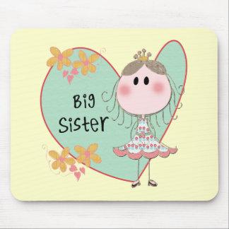 Blue Heart Princess Big Sister Mousepads