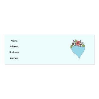 Blue Heart Profile card