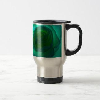 Blue Heart rose Travel Mug